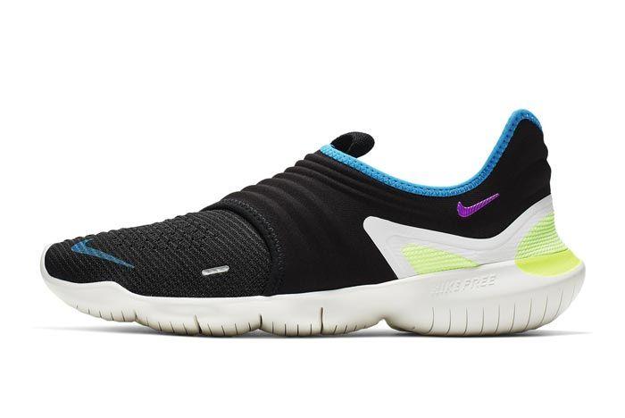 Nike Free Run Flyknit 3 Black Lateral