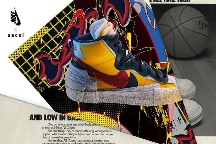 Sacai Nike Blazer Mid Official Yellow Release Date Hero