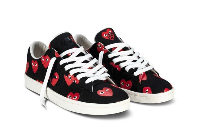 Converse Comme Des Garcons Play Collection Black Red Hero 1