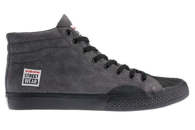 Vision Street Wear Suede Hi Grey Side 1