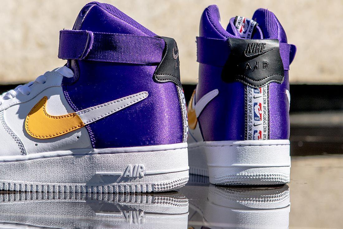 Nike Nba Air Force 1 High Purple Gold White Detail