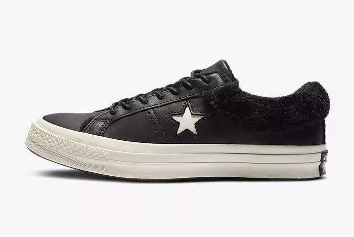 Converse One Star Fur Black 1