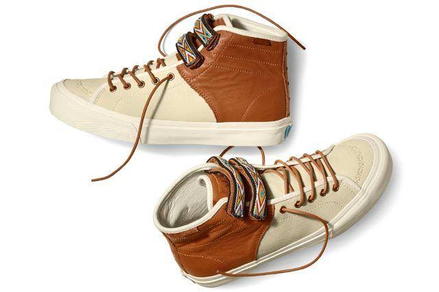 Vault By Vans X Taka Hayashi Th Priz Hi Lx  Turtledove Leather Brown Spring 2015 Pair