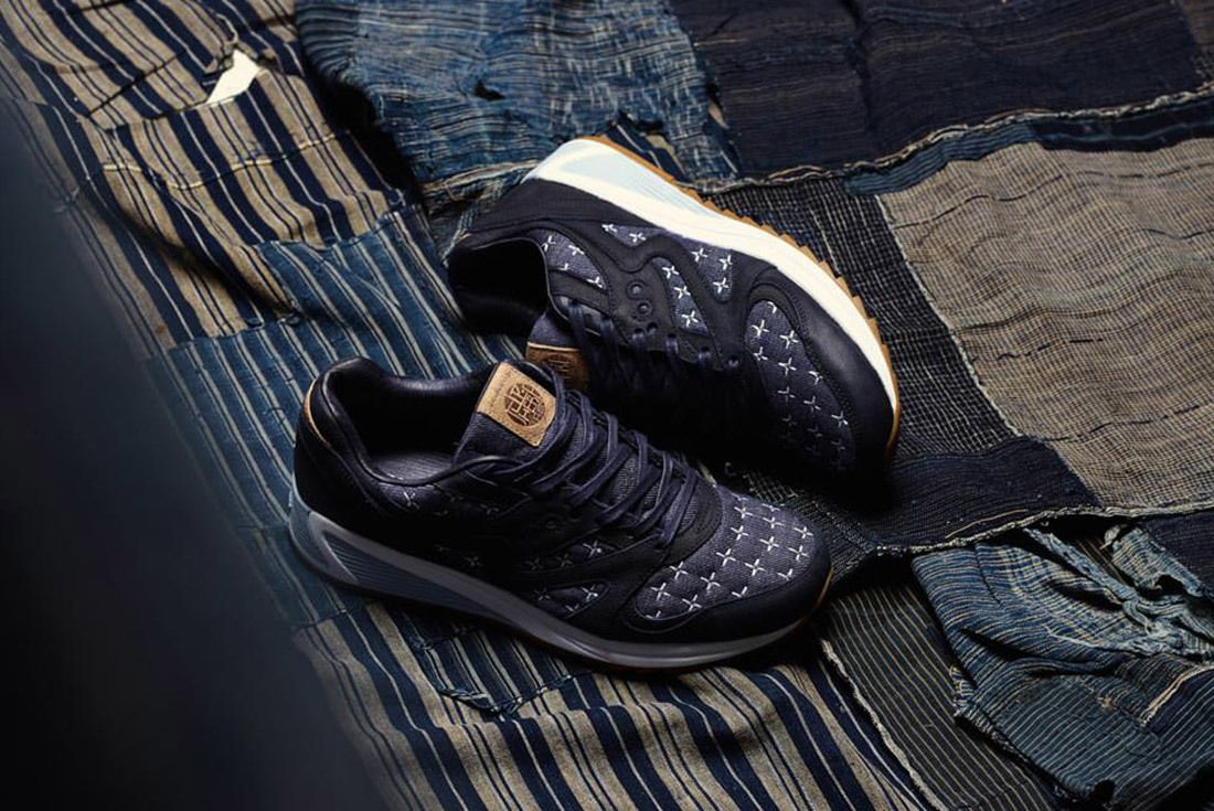 Up There Store Saucony Grid 8000 Sashiko Sneaker Freaker 9