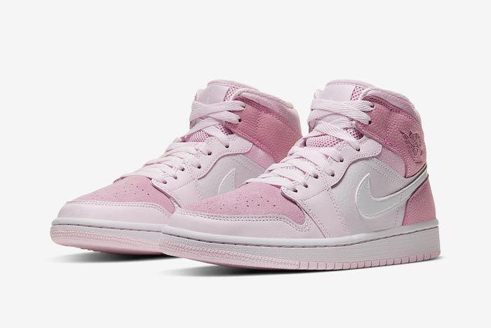 Air Jordan 1 Mid Wmns Digital Pink Pair