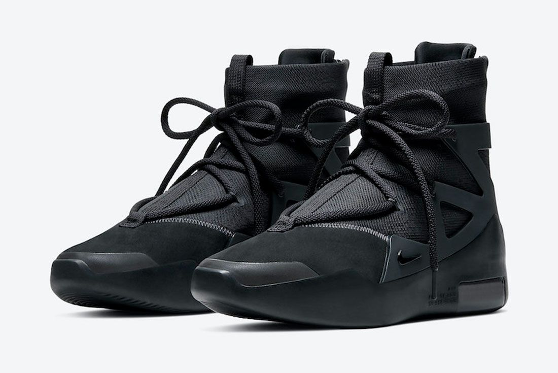 Nike Air Fear of God 1 'Triple Black' AR4237-005 Front Angle