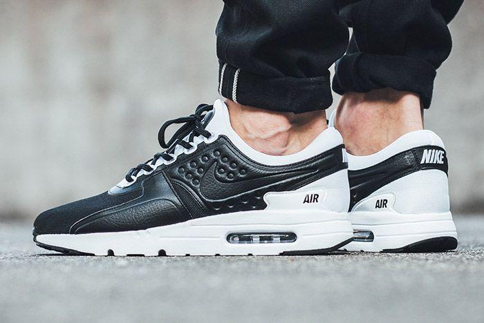 Nike Air Max Zero Premium Leather Black White 3