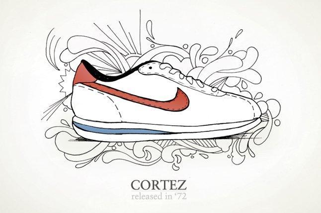 Nike Cortez Drawing 1