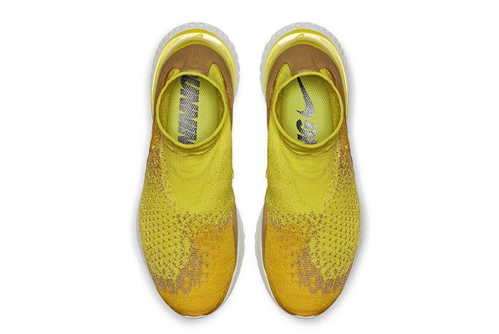 Nike Rise React Flyknit Yellow 4