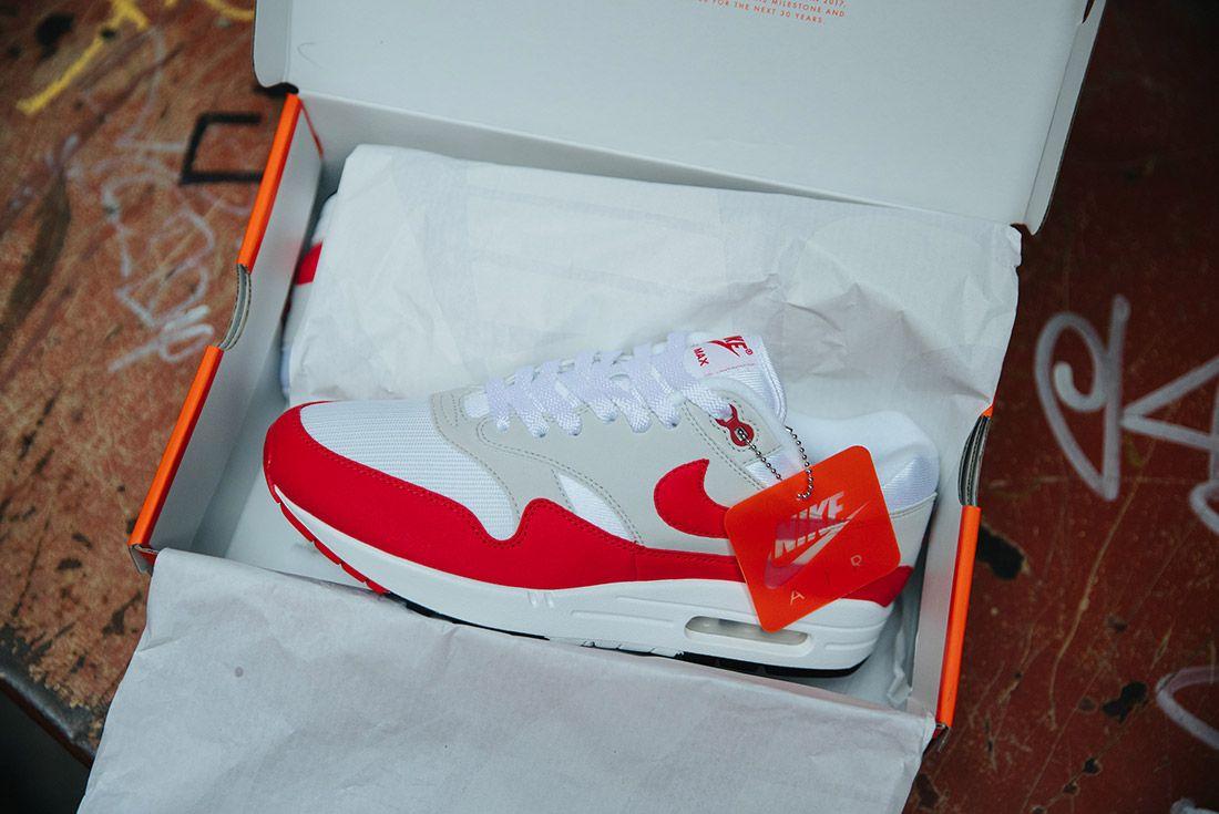 Nike Air Max 1 Anniversary Og Red White 9
