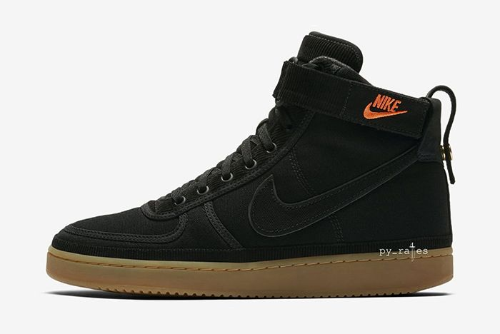 Carhartt Wip Nike Vandal High Supreme Black Gum Light Brown 1