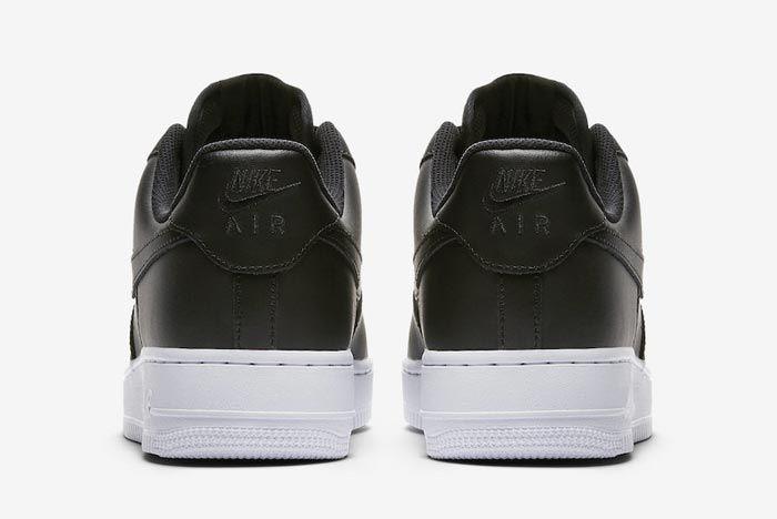 Nike Air Force 1 Low Black White Heels