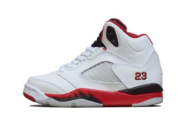 Air Jordan 5 Fire Red Black Tongue 1