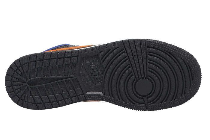 Air Jordan 1 Low Gs Blue Orange Under Sole
