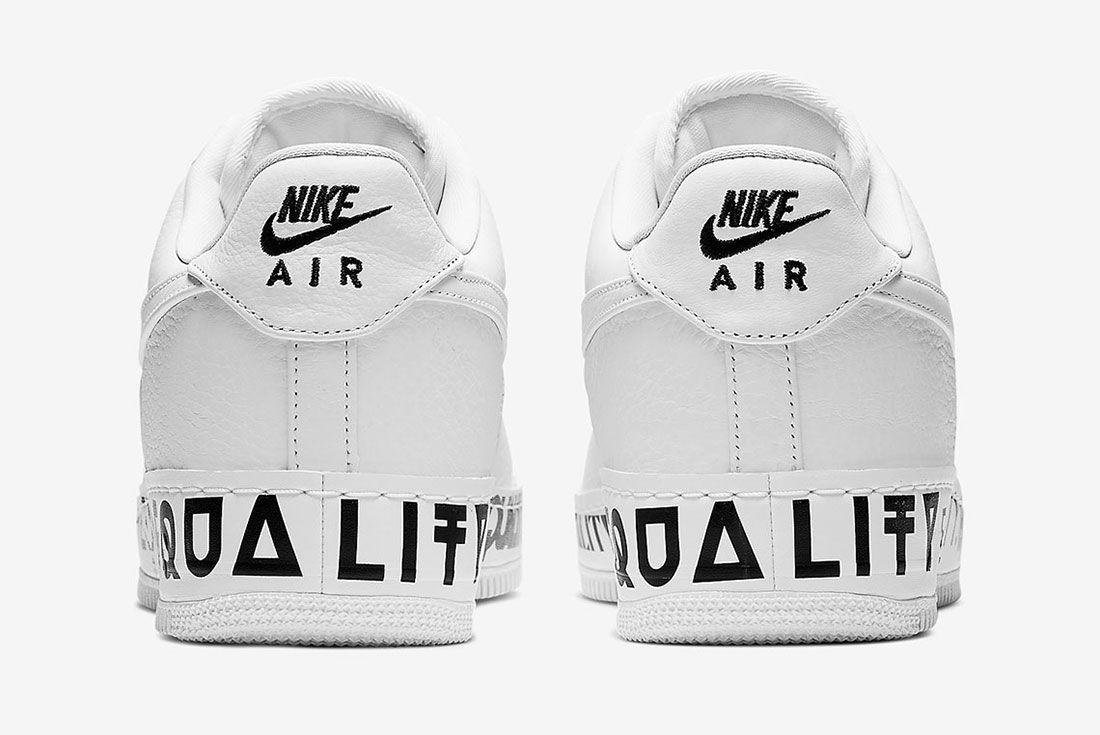 Nike Air Force 1 Equality Aq2118 100 Heel Shot