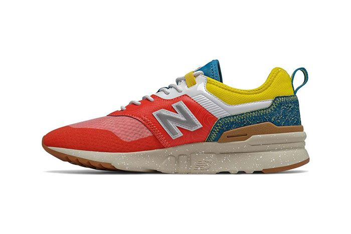 New Balance 997H Spring Hike Trail Neo Flame Blue Yellow Medial
