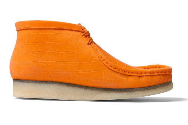 Supreme X Clarks Wallabee Boot Orange Side 1