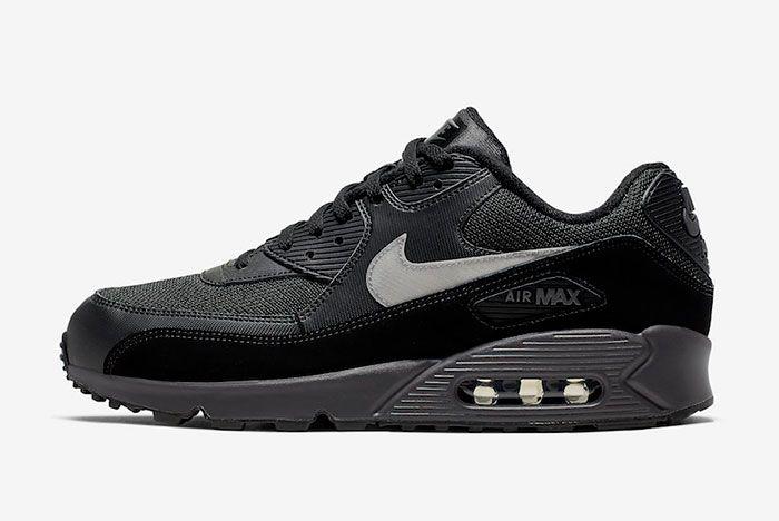Nike Air Max 90 Black Silver Aj1285 023 Release Date Side