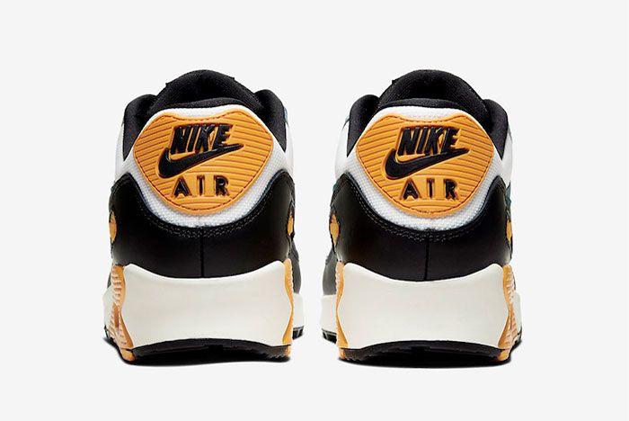 Nike Air Max 90 Teal Yellow Heel