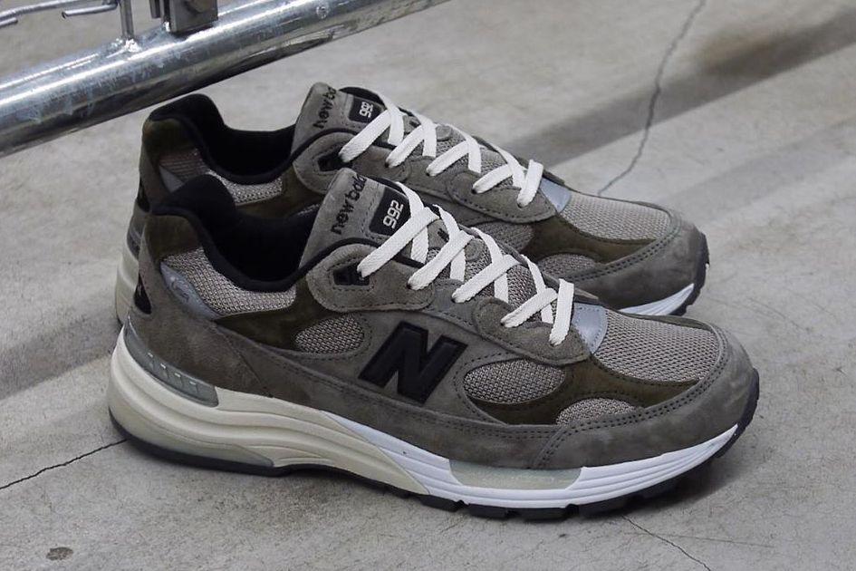 JJJJound New Balance 992 Grey Angled