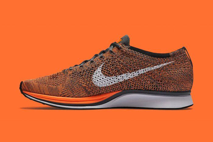 Nike Flyknit Racer Orange 6