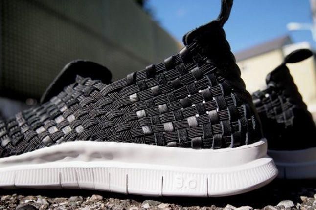 Nike Free Woven Nrg Blackwolf Grey Heel 1