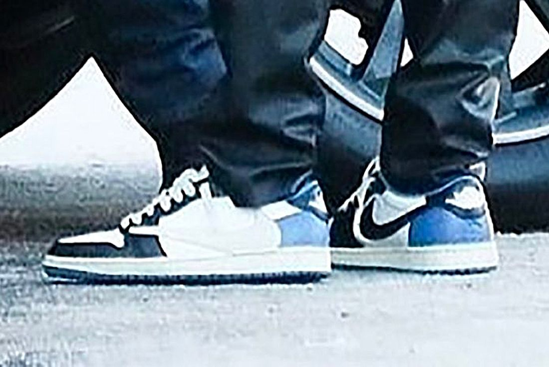 travis scott obsidian air jordan 1 low leaked shot