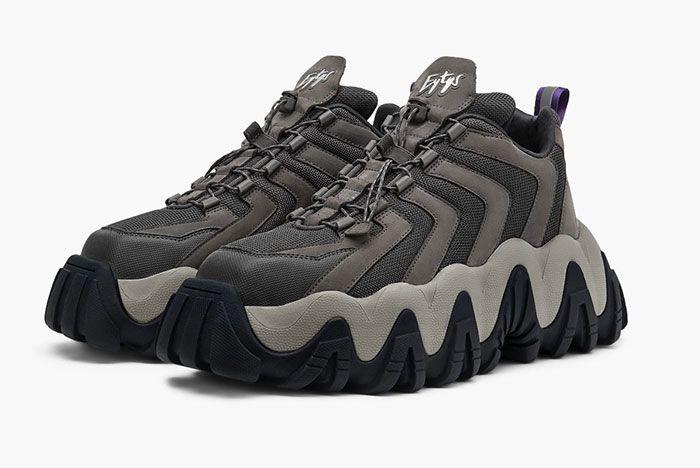Eytys Halo Sneaker Nubuck Grey Front Angle