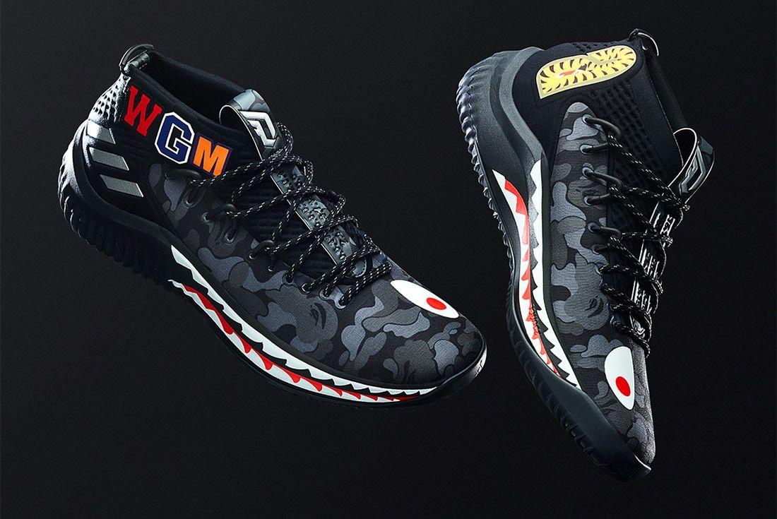 Bape Adidas Dame 4 Black Sneaker Freaker 1
