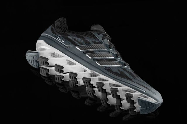 Adidas Springblade0 Blk Camo Midfoot Profile