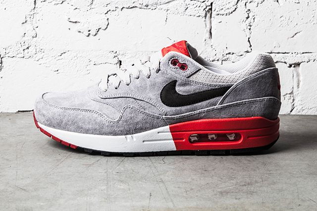 Nike Air Max 1 Premium Grey Red