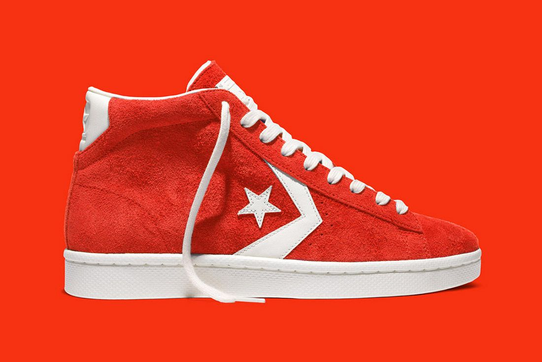 Converse Pro Leather 76 Vintage Suede Red