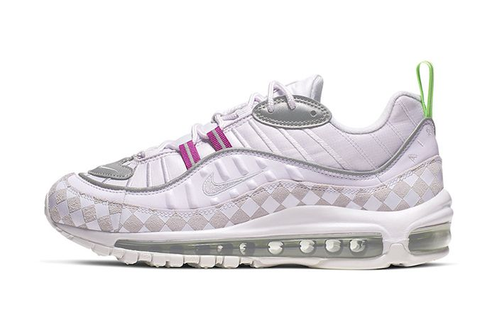 Nike Air Max 98 Wmns Checker Cj9702 500 Release Date Lateral