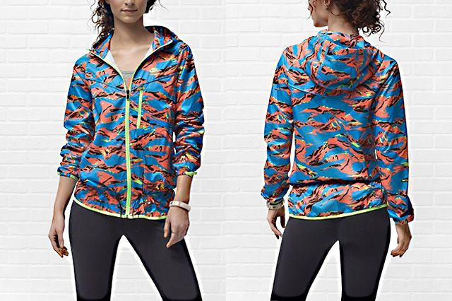 Nike Packable Camouflage Trail Womens Jacket Hawaiian Camo
