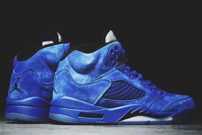 Air Jordan 5 Blue Suede4
