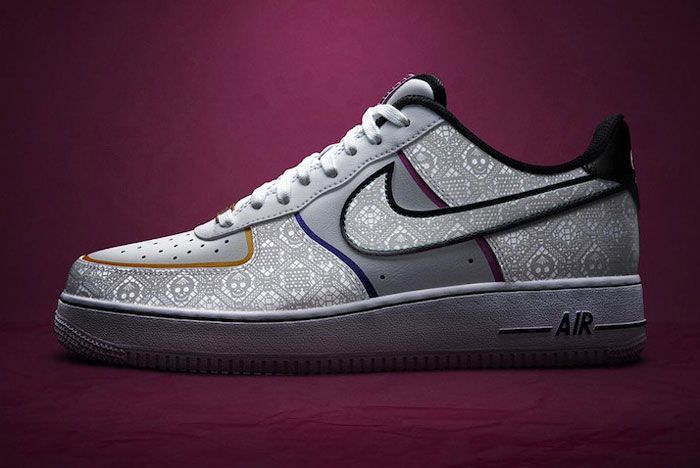 Nike Day Of The Dead Air Force 1 Lateral Side Dark