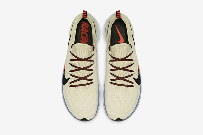 Nike Zoom Fly Flyknit Light Cream University Red Sapphire Black Ar4561 200 Release Date Top Down