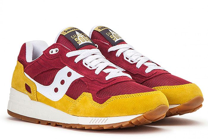 Saucony Shadow 5000 Red Yellow S70404 21 Front Angle