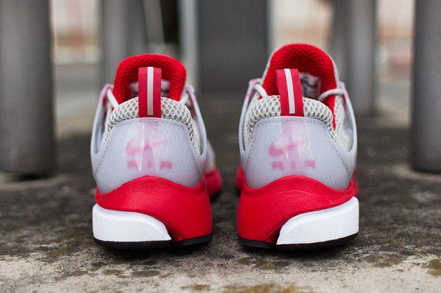 Nike Air Presto Grey Red Heel