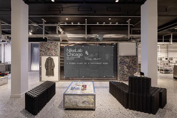 Virgil Abloh Nikelab Chicago Re Creation Center Inside Sign