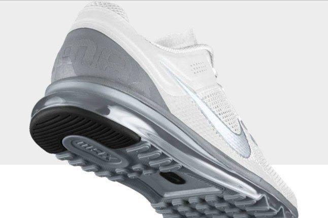Nikeid Air Max White Silver Heel 1