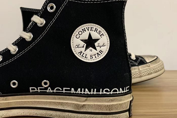 G Dragon Peaceminusone Converse Chuck Taylor All Star Midsole Close Up