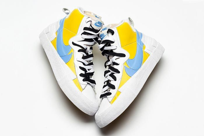 Sacai Nike Blazer Whitebaby Blueyellow Side Shot 4