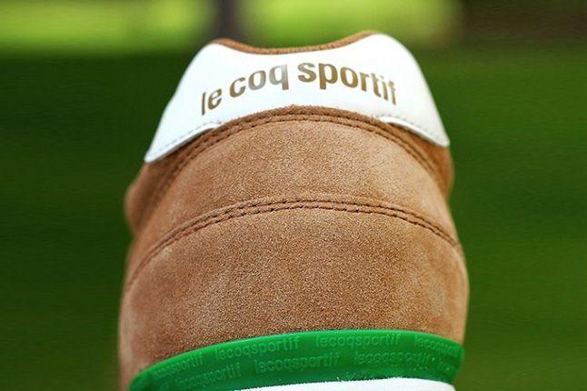 Le Coq Sportiff Eclat Suede Fox Sprtgrn Heel Detail 1