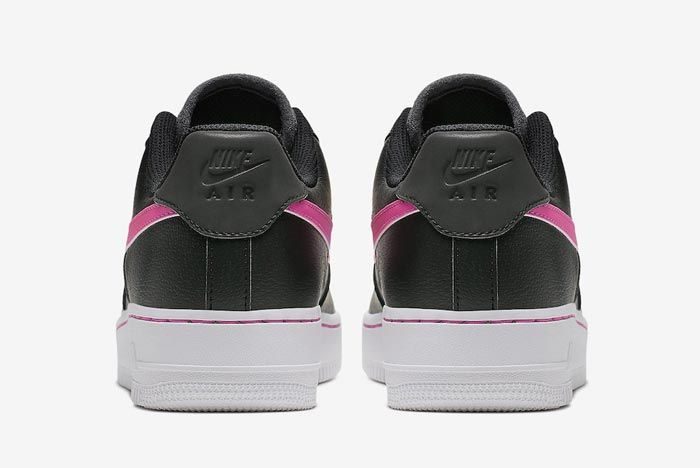 Nike Air Force 1 Black Grey Pink Heels