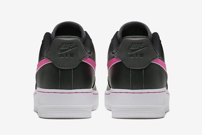 Nike Air Force 1 Black Grey Pink Heels