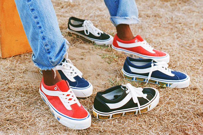Rhude Vans Bold Ni Black Blue Red Release Date Hero