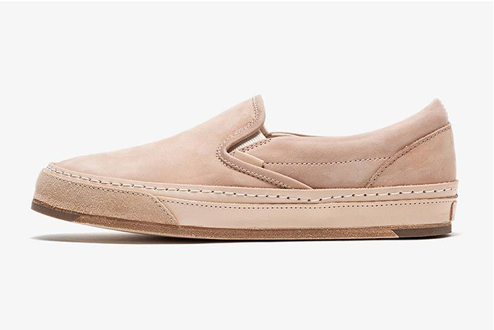 Hender Scheme Vans Slip On Beige Left Shot