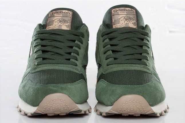 Reebok Classic Leather Utility Olive Green Front Profile 1