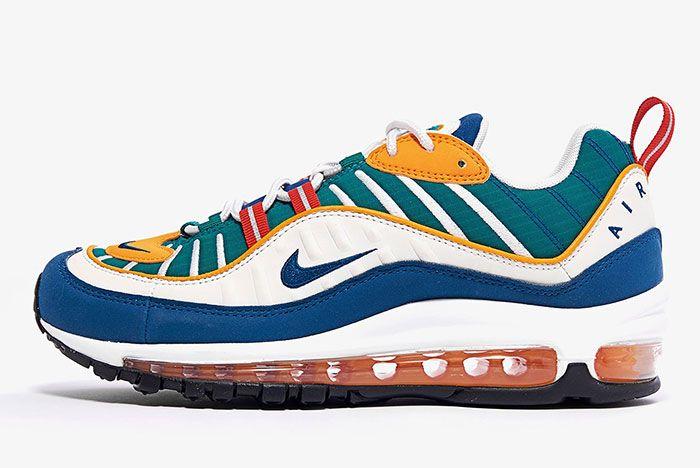 Nike Air Max 98 Womens Multi Color Ah6799 601 1 Side Shot 1